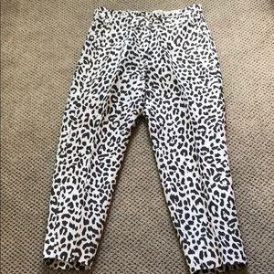 J Crew Leopard Cropped Pants
